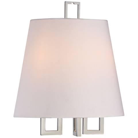 "Crystorama Westwood 13"" High 2-Light Nickel Wall Sconce"