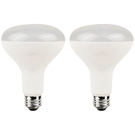 8 Watt LED Dimmable BR30 Light Bulb 2-Pack
