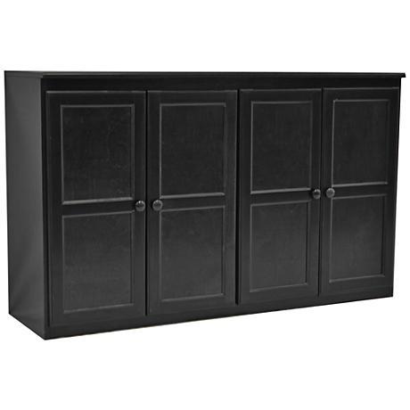 Kelby Espresso Maple Veneer 4-Door Multi Storage Cabinet