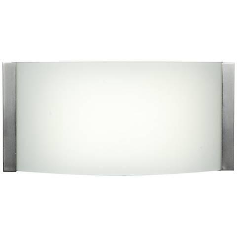 """Wave 9"""" Wide Brushed Steel LED Bath Light"""