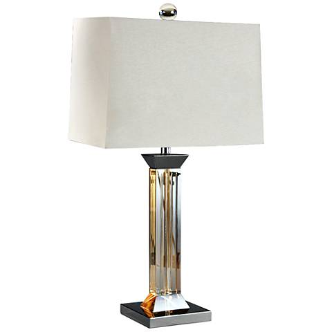 Edina Fluted Topaz Crystal Glass Table Lamp