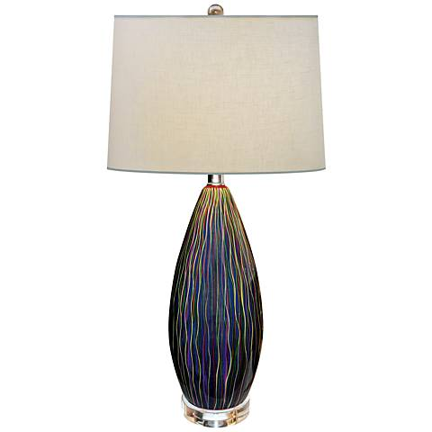 Serenity Hand-Painted Multi-Color Porcelain Table Lamp
