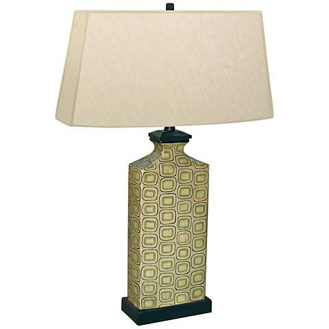 Rectangular Honesty Hand-Painted Porcelain Table Lamp