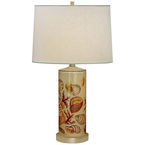 Seaside Column Hand-Painted Porcelain Table Lamp