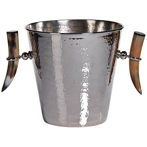 Barclay Butera Casablanca Hammered Nickel Ice Bucket