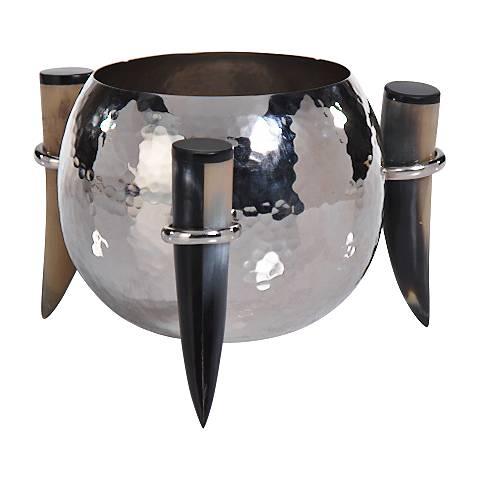 Barclay Butera Casablanca Hammered Nickel Decorative Nut Bowl