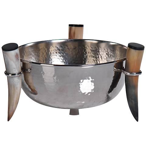 Barclay Butera Casablanca Hammered Nickel Decorative Bowl