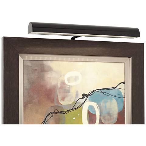 """Concept Matte Black Cordless Battery 18""""-W LED Picture Light"""