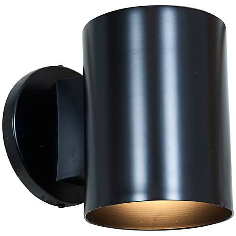 "Poseidon 6""H Black Energy-Efficient Outdoor Wall Light"