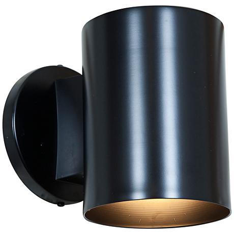 "Poseidon 6""H Black Energy-Efficient Outdoor Wall Light"