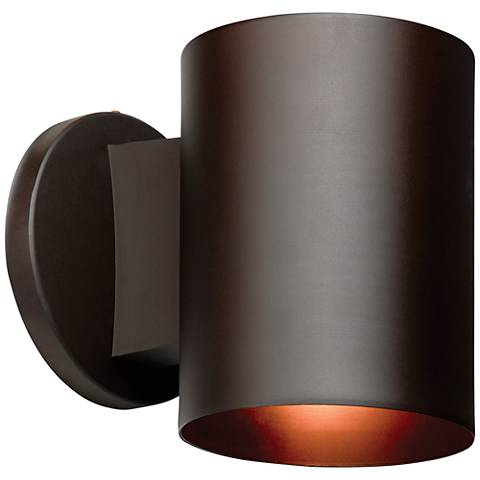 "Poseidon 6""H Bronze Energy-Efficient Outdoor Wall Light"
