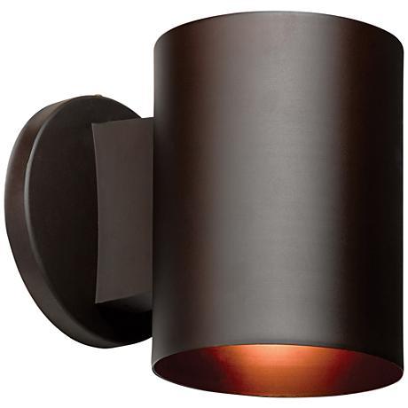 "Poseidon 6""H Bronze Energy-Efficient Outdoor Wall Light"