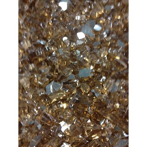 Copper Crystal Crushed Glass Fire Pit Media 5 Lb. Pack