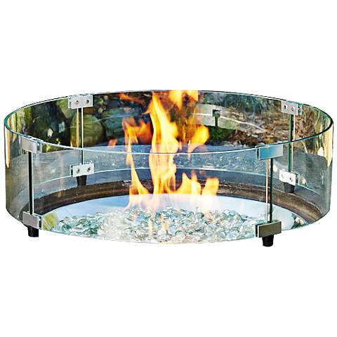 "Algonquin 23 1/4"" Round Clear Fire Pit Glass Guard"