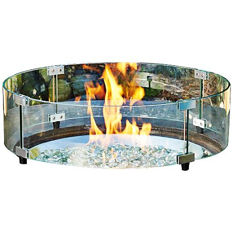 "Algonquin 23 1/4"" Round Clear Fire Pit Glass Guard"