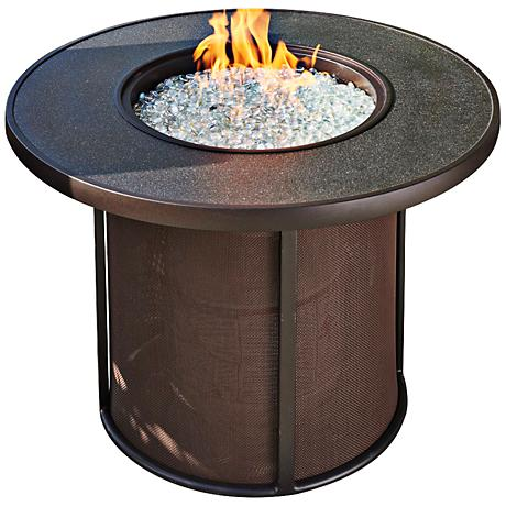 """Stonefire 32"""" Wide Round Metal-Mesh Fire Table"""