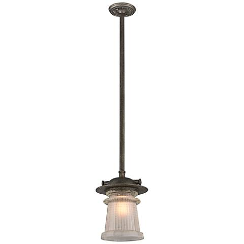 "Pearl Street 13 3/4""H Zinc Outdoor Hanging Light"