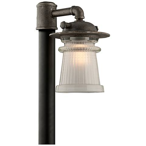 "Pearl Street 16 1/4""H Charred Zinc Outdoor Post Light"