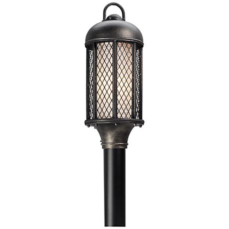 """Signal Hill 20 1/4"""" High Aged Silver Outdoor Post Light"""