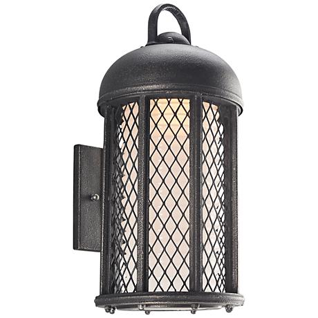 """Signal Hill 17 1/2"""" High Aged Silver Outdoor Wall Light"""