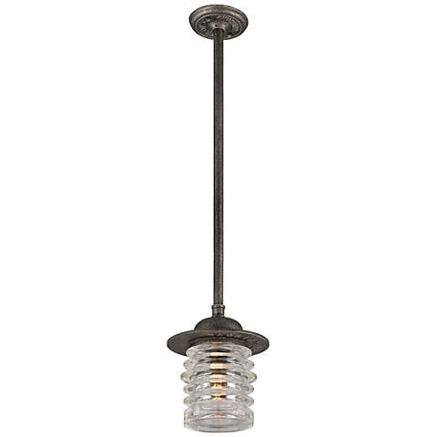 "Watson 13 1/2"" High Charred Zinc Outdoor Hanging Light"