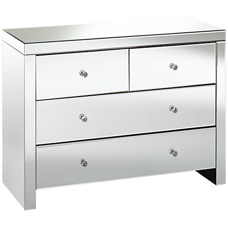 Carlisle Mirrored 4-Drawer Accent Chest