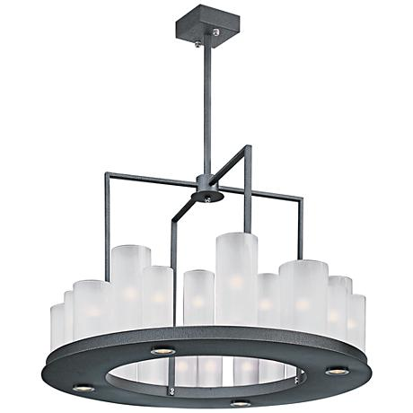"Maxim Urban Nights 28 1/4"" Wide Textured Black Chandelier"