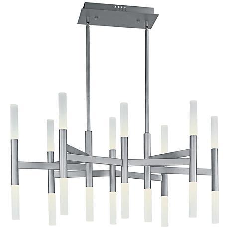"Maxim Pinnacle 38"" Wide Metallic Silver LED Chandelier"