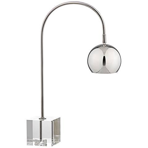 Lavina Polished Nickel and Crystal Task Desk Lamp