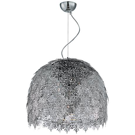"Maxim Vineyard 20"" Wide Polished Chrome Pendant Light"