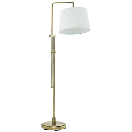 House of Troy Crown Point Antique Brass Floor Lamp