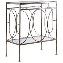 Uttermost Luano Distressed Antique Silver End Table