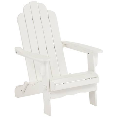 Chandler White Folding Adirondack Chair