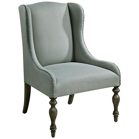 Uttermost Filon Seaglass Upholstered Wing Chair