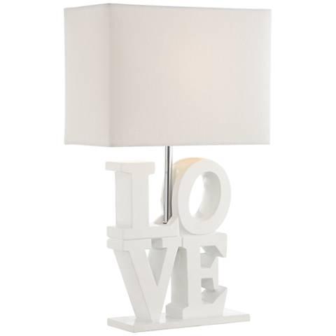 """Pop Art 20"""" High Love Sculpture Accent Table Lamp"""
