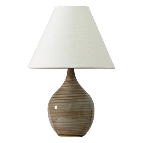 "Scatchard Stoneware 19"" High Tiger's Eye Accent Table Lamp"