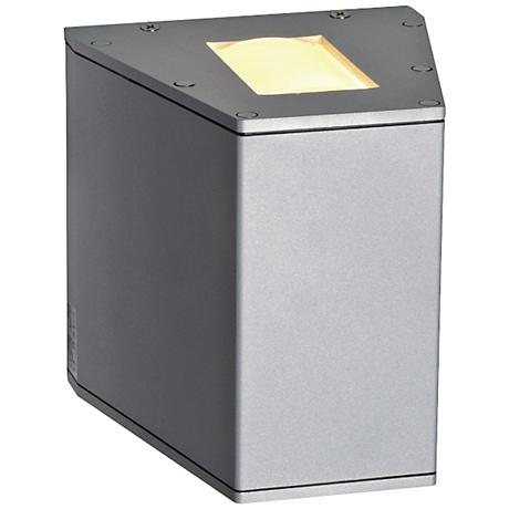 """Out-Beam 6"""" High Silver Gray Outdoor Wall Light"""
