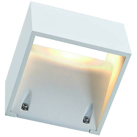 "Logs 3 1/4"" High White Outdoor LED Wall Light"
