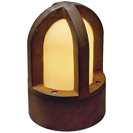 "Rusty Cone 9 1/2"" High Rusted Iron Bollard Landscape Light"