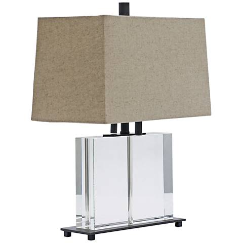 "House of Troy 19""H Marquis Crystal Square Table Lamp"