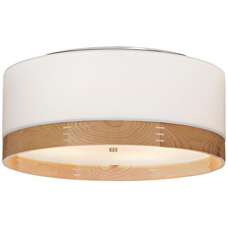 "Tech Lighting Topo 20""W Maple-Band Nickel Ceiling Light"
