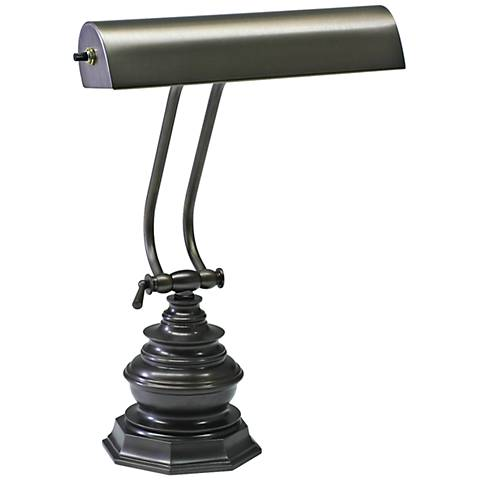 "House of Troy Octagon 14""H Mahogany Bronze Piano Desk Lamp"