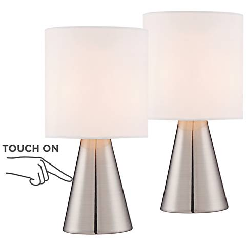 "Gilda 12"" High Touch Accent Table Lamp - Set of 2"