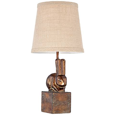"Brown Bunny 16 1/2"" High Accent Table Lamp"