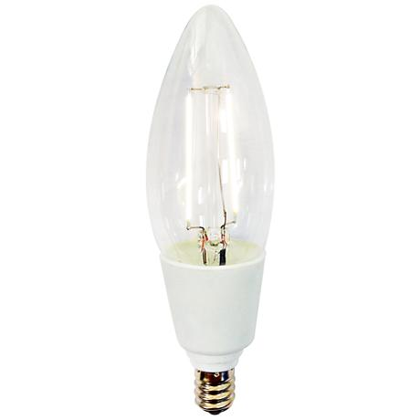 LED Dimmable 4 Watt LED Clear Filament Bulb by Tesler