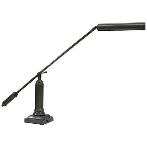 "House of Troy Mahogany Bronze 26"" High Grand Piano Desk Lamp"
