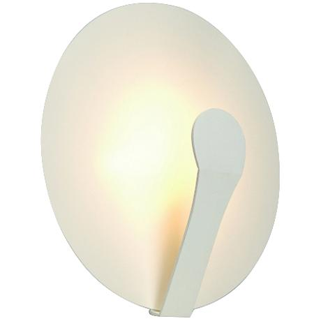"""Air Indi 13"""" High LED White Steel Round Wall Sconce"""