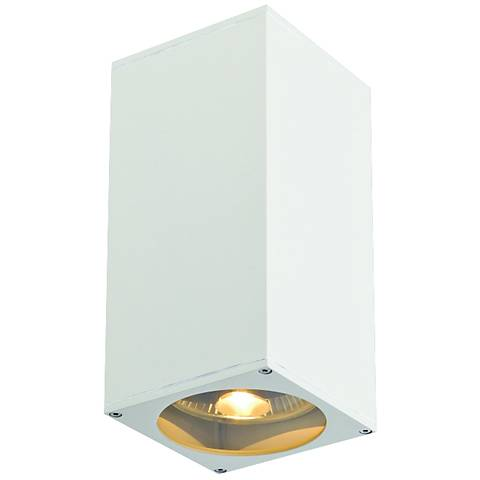 "Big Theo 10 3/4""H Up-and-Down White Outdoor Wall Light"