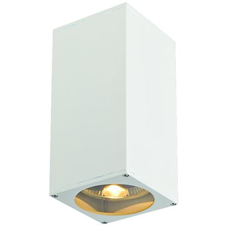 """Big Theo 10 3/4""""H Up-and-Down White Outdoor Wall Light"""