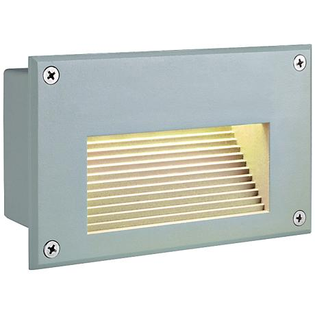 "Brick 4"" High Silver-Gray Recessed Outdoor LED Step Light"